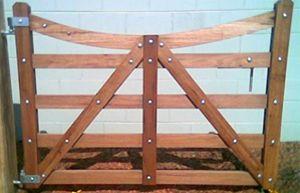 garden timber wooden gates