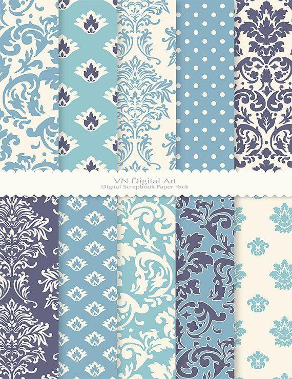 Damask Digital Scrapbook Paper Pack 8.5x11300 dpi by VNdigitalart https://www.etsy.com/listing/65971980/damask-digital-scrapbook-paper-pack?ref=shop_home_active_23