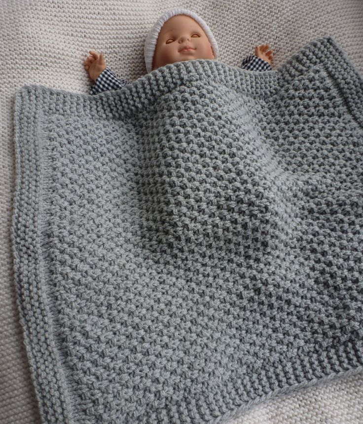 modeles couverture bebe tricot