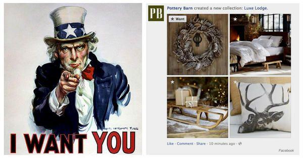 WANT BUTTON OUT NOW: Gimme, gimme.., het was even wachten maar hij komt er nu toch: de WANT-button op Facebook: http://www.businessinsider.com/facebooks-getting-a-want-button-2012-10 … pic.twitter.com/B2wwglGE