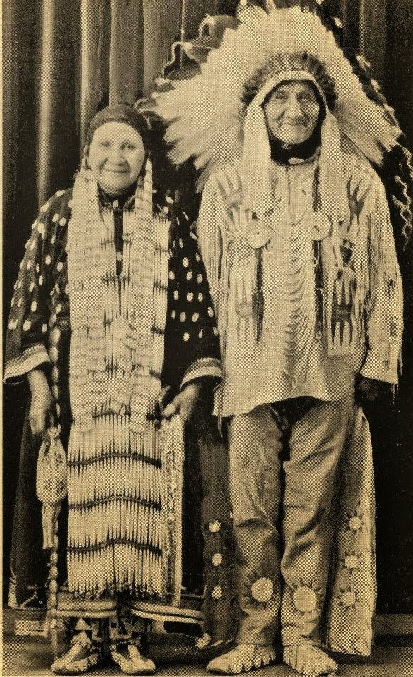 Yankton Indians-Julia-Eugene-Bear-1930-Dress-ceremonial