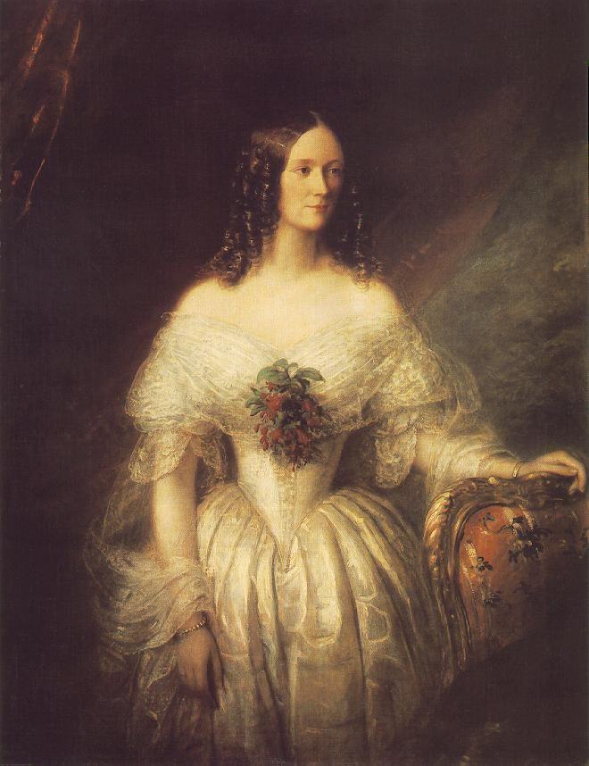 Barabás Miklós - Portrait of a Woman (1846) - (Hölgy portréja)