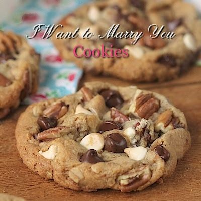 I Want to Marry You Cookies - thecafesucrefarine.com