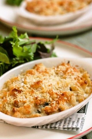 Chicken and Shrimp Macaroni Gratin for Holiday gatherings