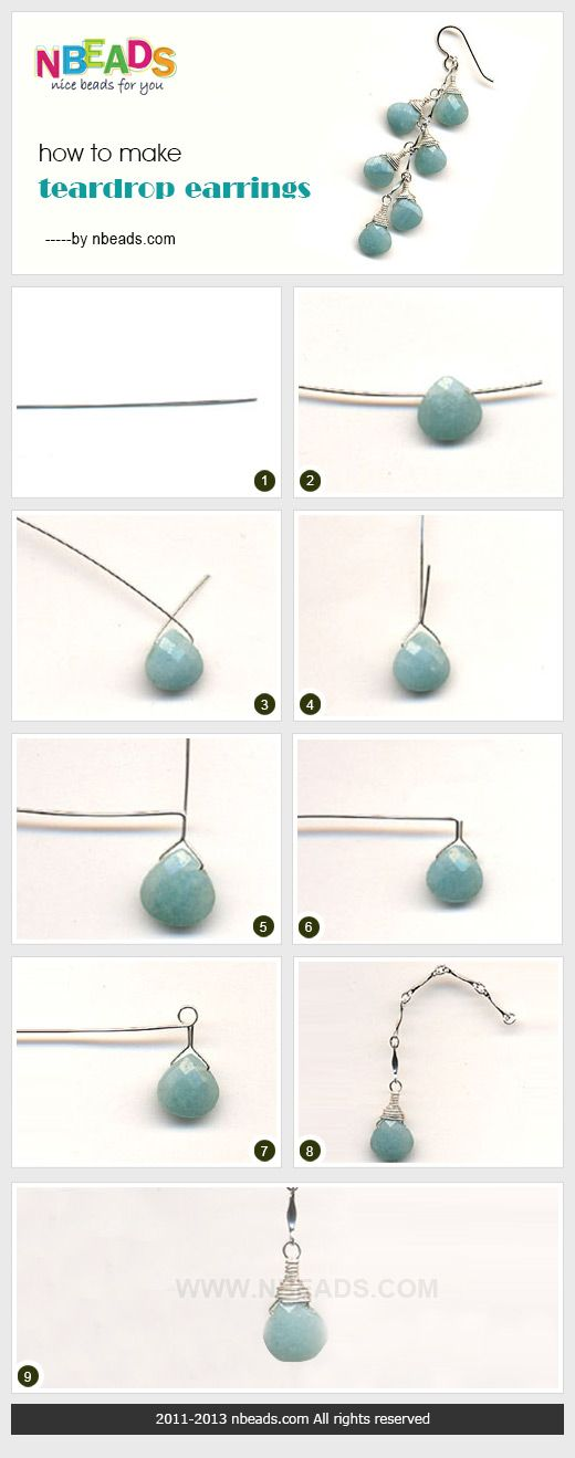 how to make teardrop earrings