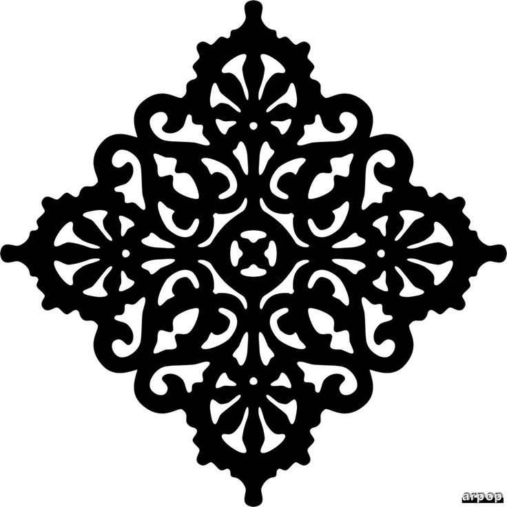 I know its for scroll saw but can be adapted and used as a stencil. Free Scroll Saw Patterns by Arpop: Victorian Trivet Pattern