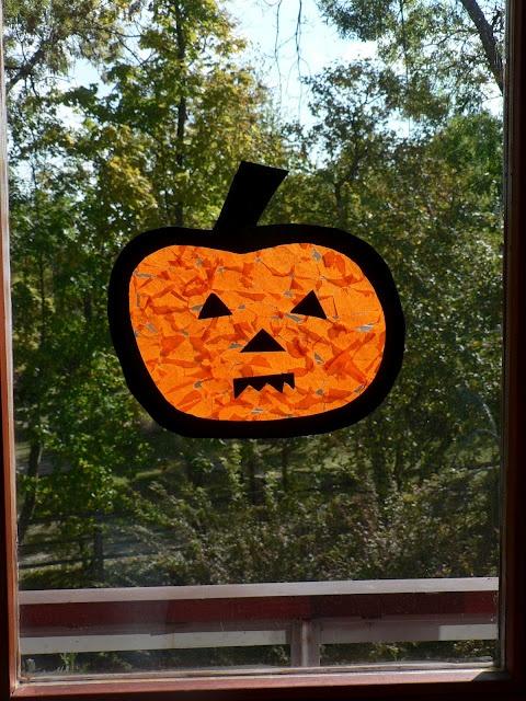 {Pumpkin Suncatcher Jack-O-Lantern Play} | Halloween | Pinterest | Preschool, Halloween and Preschool crafts