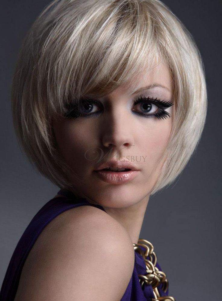 Lovely Carefree Short Bob Hairstyle 100% Human Hair Wig about 8 Inches: wigsbuy.com