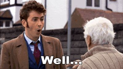 "Click on the gif!|Every ""well"" that David Tennant has uttered on Doctor Who. <<- Repin if you can hear him saying it. :3"