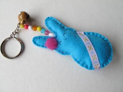 Porta-chaves em feltro: Color, Angel, Felt, Ems