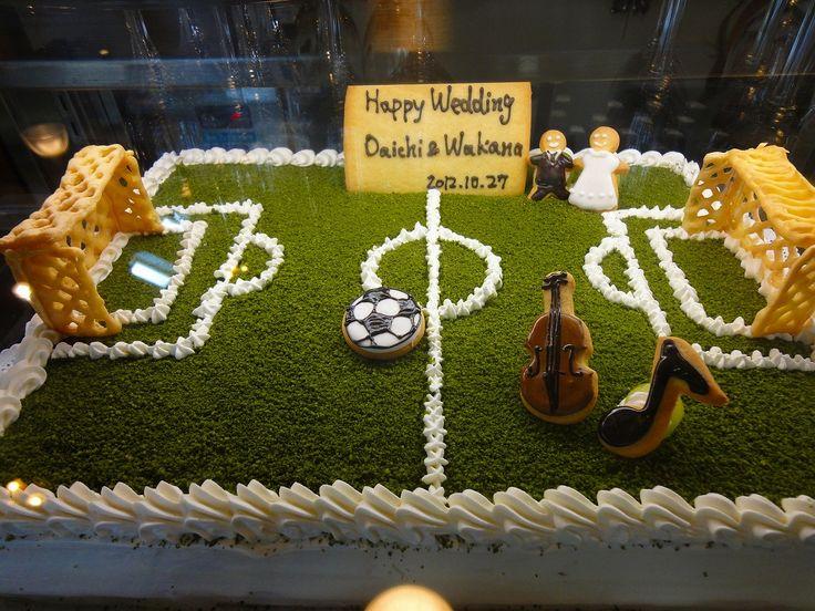サッカー ウェディングケーキ - Google 検索