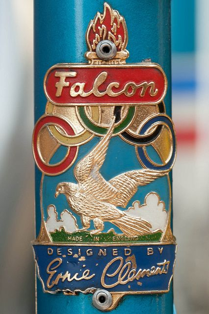 Falcon head badge