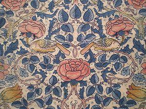 60 best jacobean crewel images on pinterest jacobean embroidery vintage sanderson linen fabric offcut rose by william morris fandeluxe Images