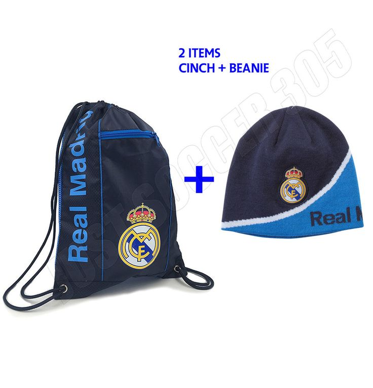 Real Madrid Cinch + Beanie Navy New Colors Bag Sack Soccer Book Backpack  #Icon #RealMadrid