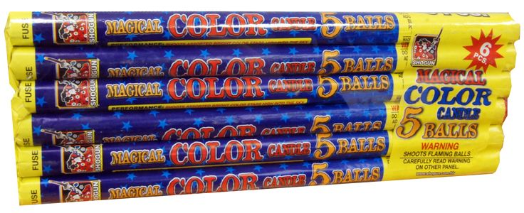 Magical Roman Candle 5-ball | NCI, Inc. Indiana Fireworks Wholesale