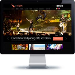 Mr.Violin Concert website built with PHP/HTML, JQuery.