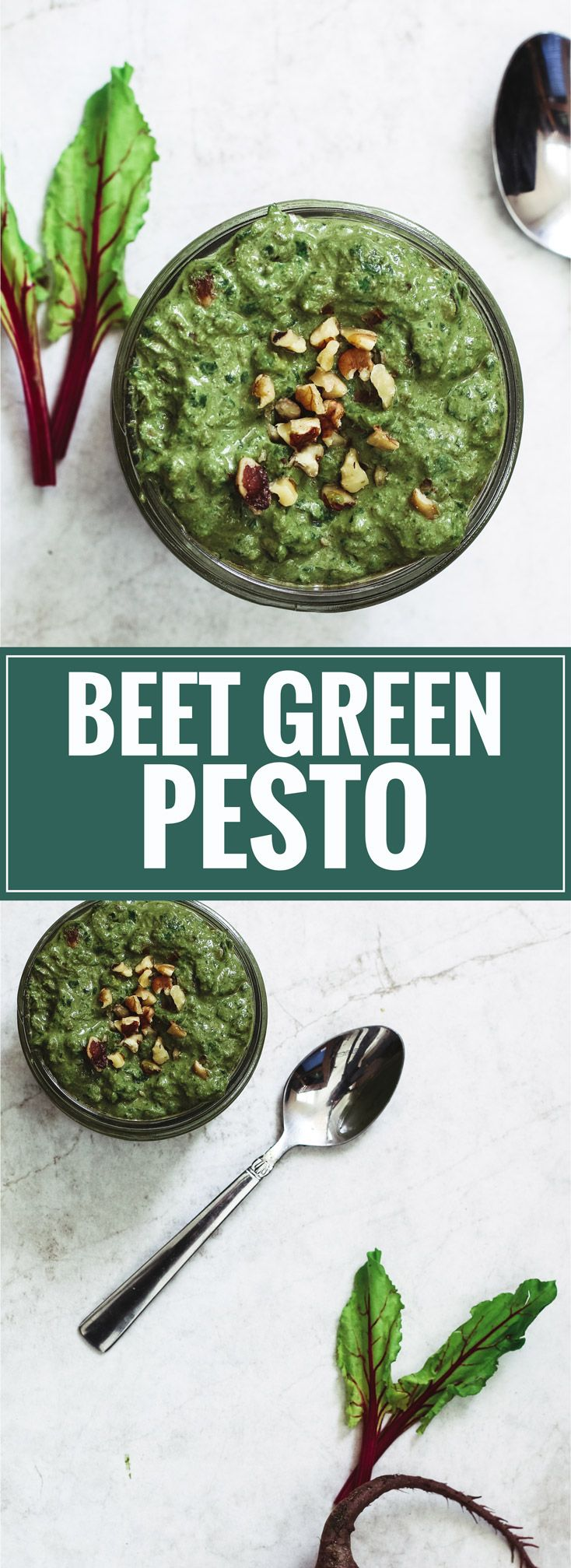 Beet Green Pesto | Killing Thyme Stop tossing your beet greens into the trash! Make this garlicky and nutty pesto instead.