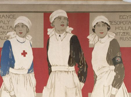 British Red Cross: First World War - nursing, air raid duty, missing people and transporting the wounded.