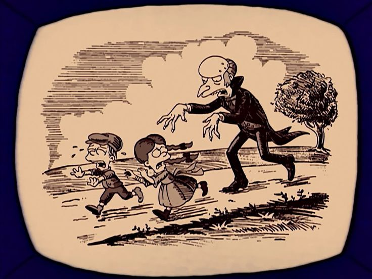 ...seen here terrorizing children in a 19th century woodcut...