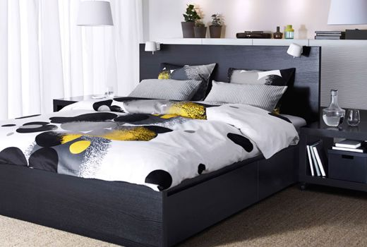 bolltistel housse de couette et 2 taies gris jaune. Black Bedroom Furniture Sets. Home Design Ideas