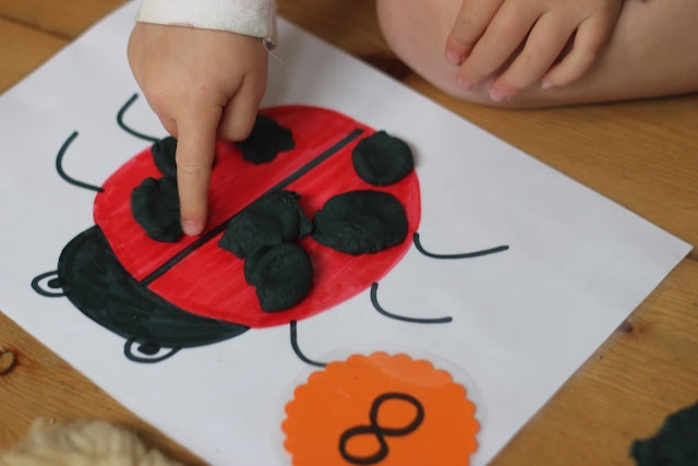 I LOVE all of the mats she made and want to make them all!  Play Dough Learning Mats for Literacy and Numeracy Development