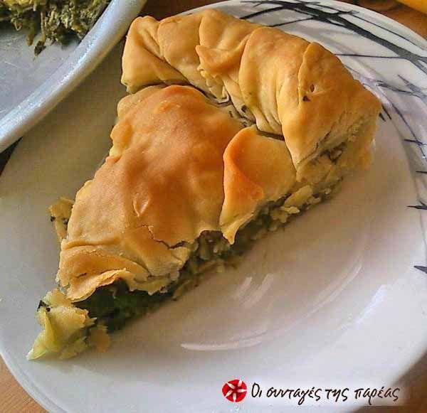 Σπανακόπιτα με τυρί και σπιτικό φύλλο - #sintagespareas #spanakopita