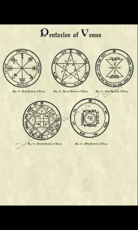 Pentacles of Venus - King Solomon