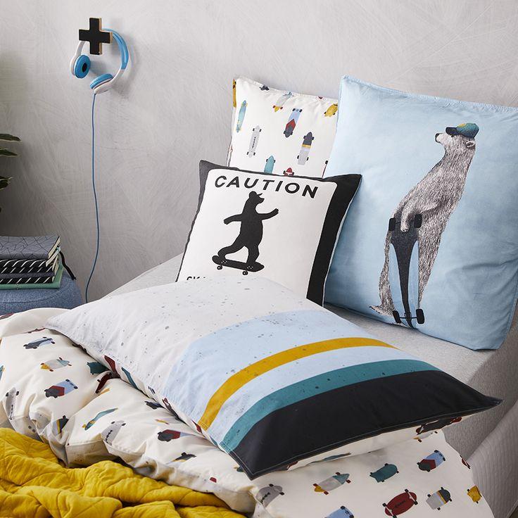 Adairs Kids - Skater Boy Quilt Cover Set Multi - Adairs Kids - Bedroom - Quilt Covers & Coverlets - Adairs Kids Online