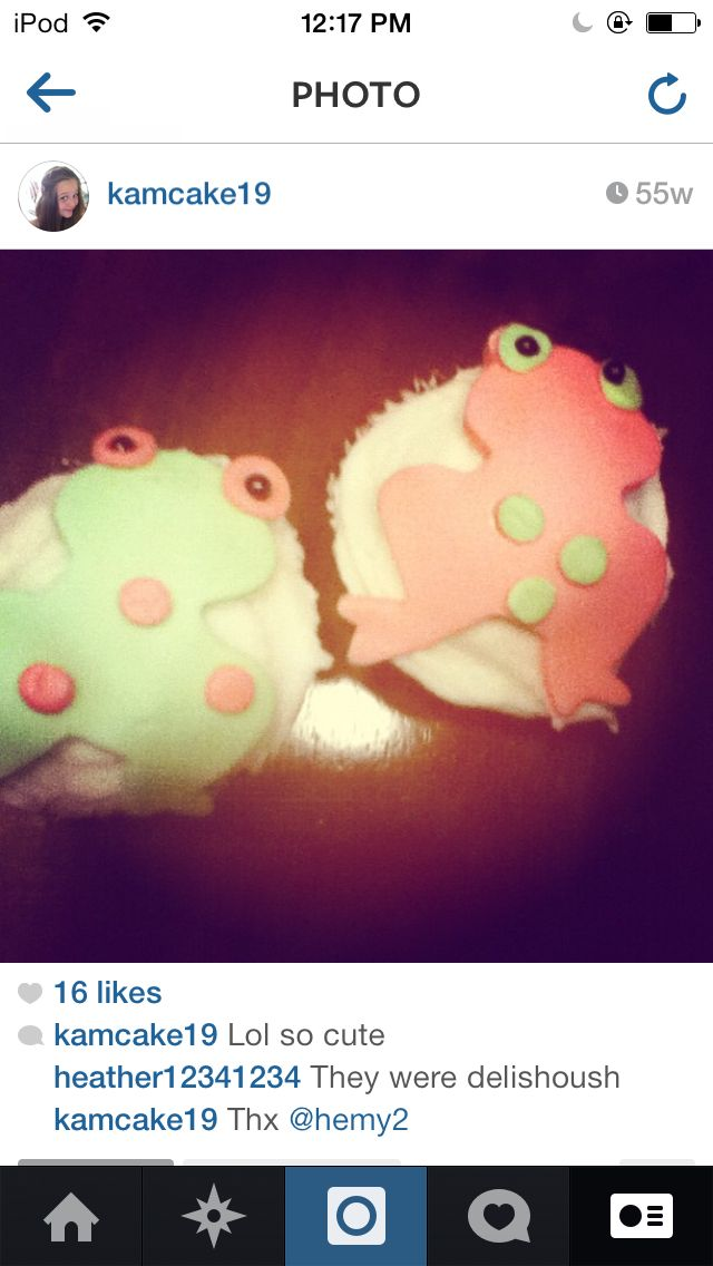 Cupcakes my mom and I made last year