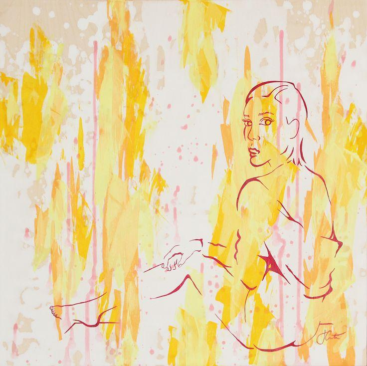 JUNE | acrylic on wood | 20x20 | The DIOR Project | Josephine Condotta