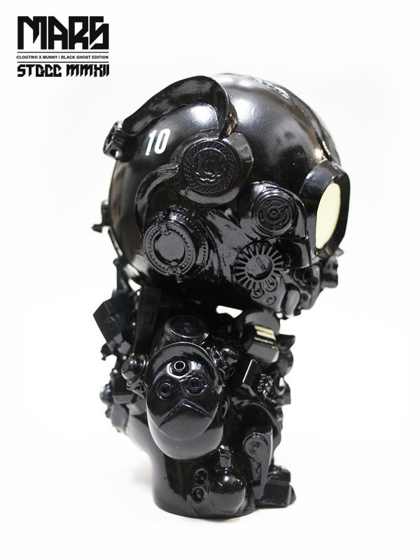 MARS (Black Ghost vinyl toy custom) by Clog Two, via Behance