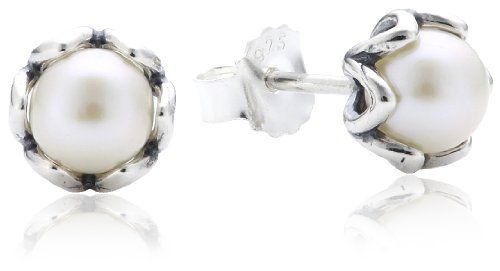 Pandora 290533P Earrings White Freshwater Pearl Silver *** You can get more details by clicking on the image.