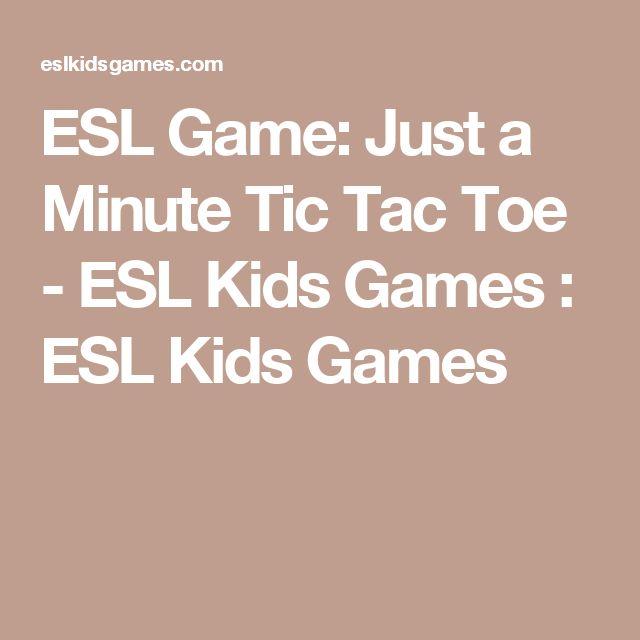 ESL Game: Just a Minute Tic Tac Toe - ESL Kids Games : ESL Kids Games