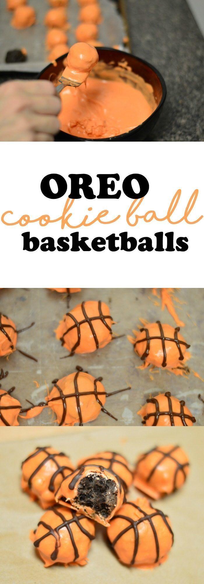 March Basketball Big Tournament Snack: OREO Cookie Ball Basketballs #ad #SnackBracketPlaybook