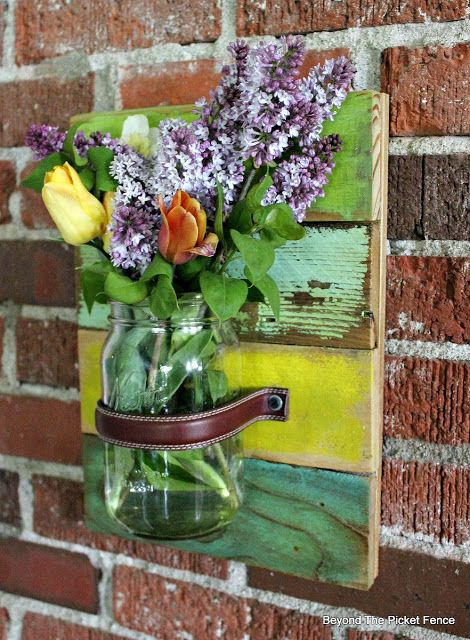Best Canning Jars Mason Jars Easy Wall Pallet Crafts Diy Crafts Wood Pallets Wood Wall Repurpose Masons