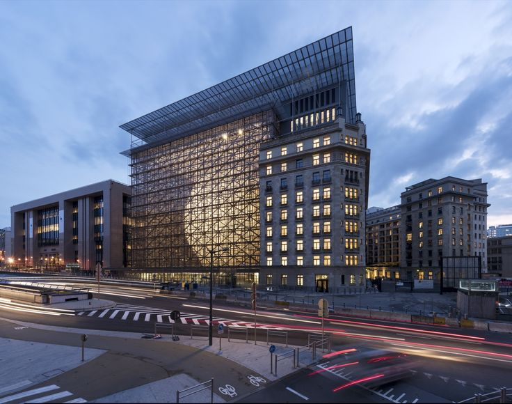 Completed in 2016 in Bruxelles, Belgium. Images by Marie-Françoise Plissart, European Union, Jacques Ceyssens, Quentin Olbrechts, Thierry Henrard. The current building used for European Council and Council meetings - the Justus Lipsius - was planned in the late 1980s, when the EU had 12 member...