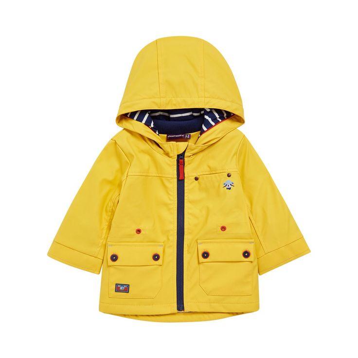 Sergent Major vous propose cette parka garcon jaune pour les 6 à 24 mois du theme L'incroyable voyage (bb) de la collection Ete