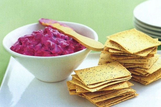 Serve this delicious Mediterranean-style beetroot dip with crispy Lavosh or pita breads.