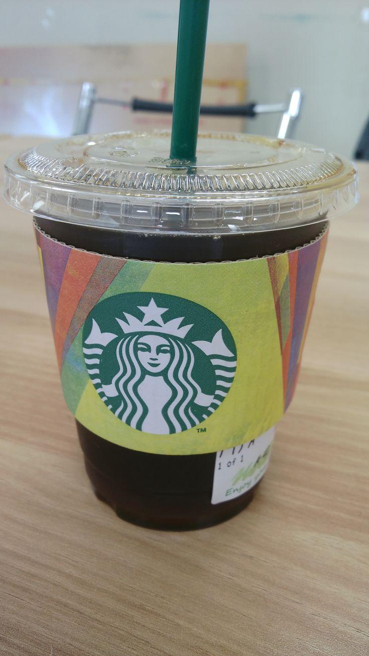 Starbucks tall-size Americano in Art class
