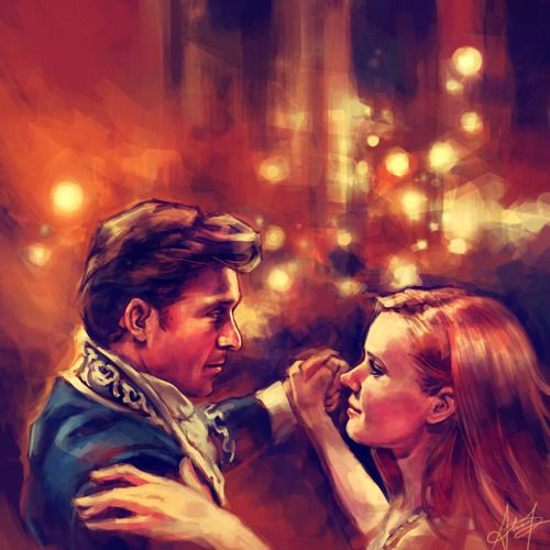 This is truly amazing. Painting from Enchanted, scene where Robert is singing to Giselle as they dance