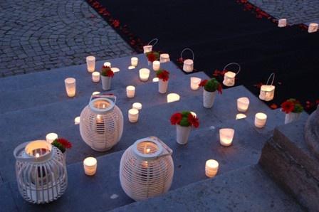 romantische aankleding buiten - door De tafel van Amandine