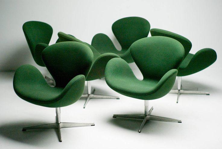 Arne Jacobsen Swan Chairs for Fritz Hansen Denmark image 6