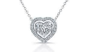 Image result for heart diamond pendant