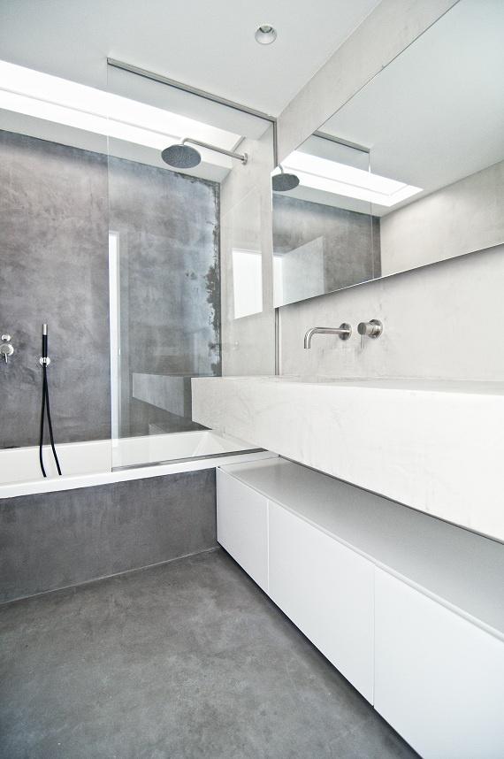 www.mueblesalacarta.com Baño de microcemento. Un mueble para un baño diferente, moderno y elegante.