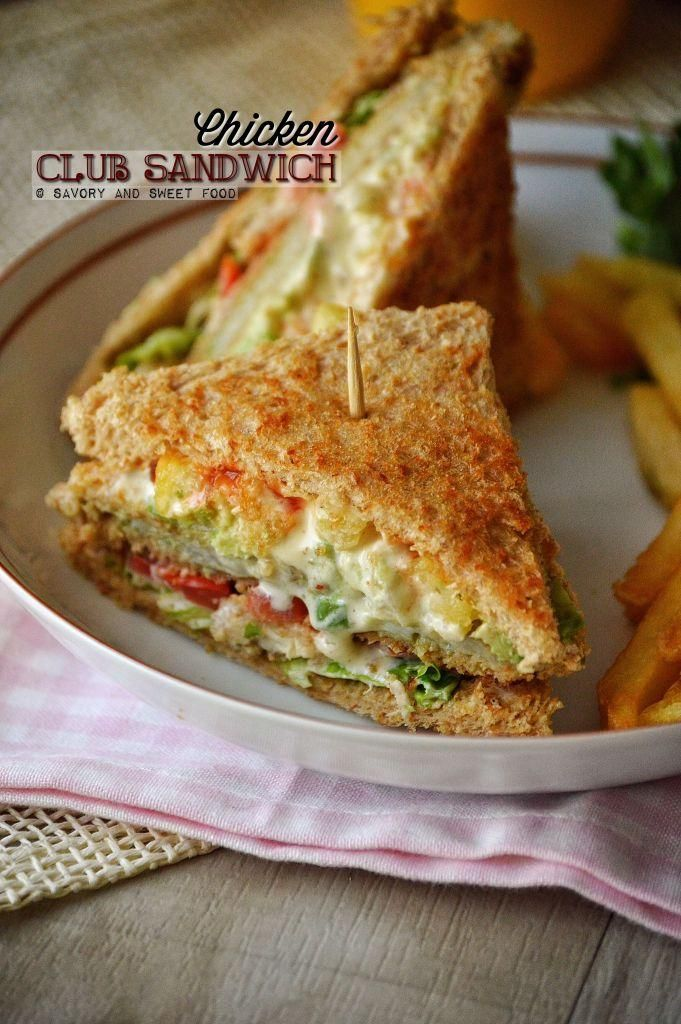 Chicken Club Sandwich - Savory&SweetFood