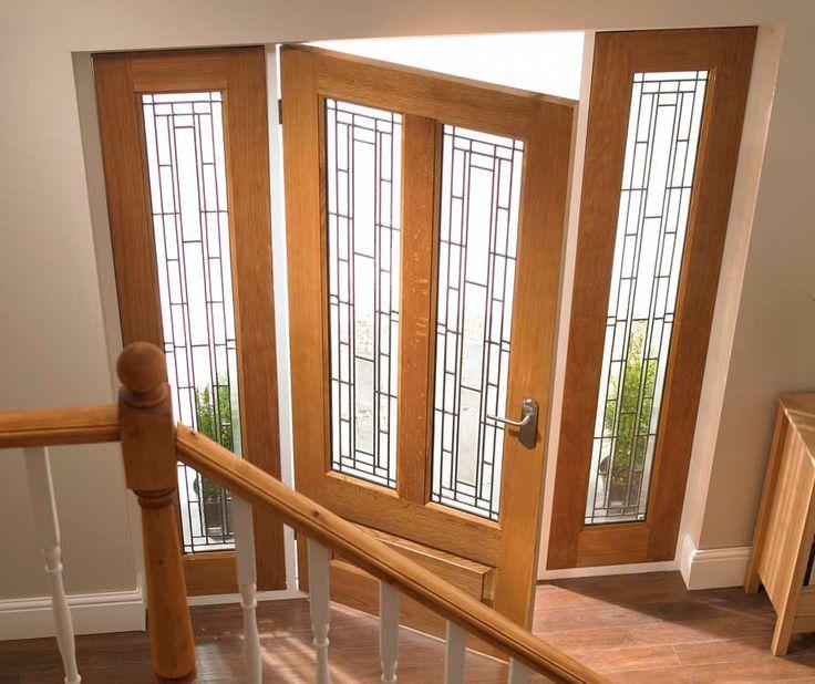 Granada oak door and sidelights