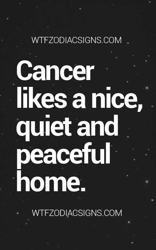 Cancer Zodiac Sign♋ likes a nice, quiet, and peaceful home