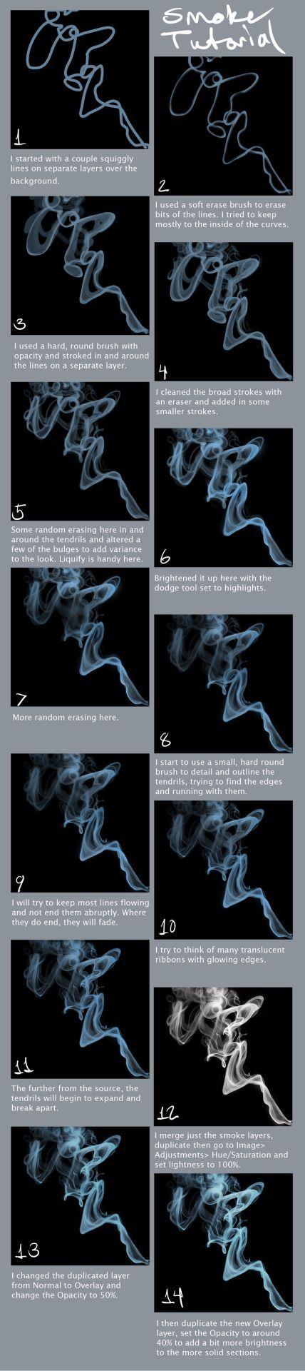 Smoke Tutorial by portohle - How to Art