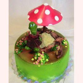 """Детский торт """"Крокодил Гена и Чебурашка"""""""