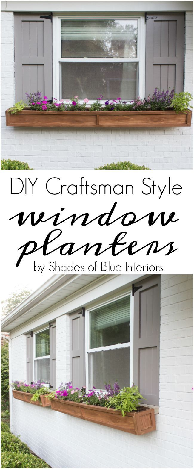 "How to make a pair of 80"" long cedar window planters with a craftsman style design and attach them to a brick home. Simple build that can be done in 2 hours"